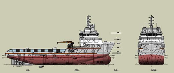 6600KW三用工作船